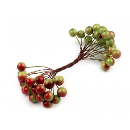 Jarzębina dekoracyjna czerwono-zielona