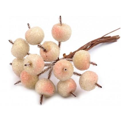 Mini jabłuszka oszronione jasno beżowe