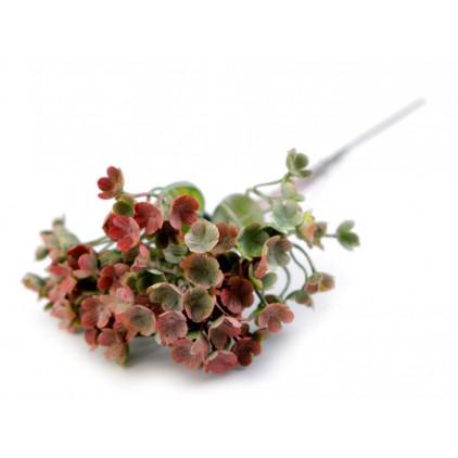 Mini red hydrangea, artificial