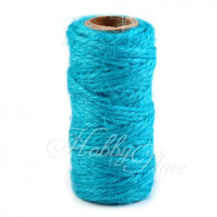 Natural Sisal String Ø2 mm - turquoise intensive