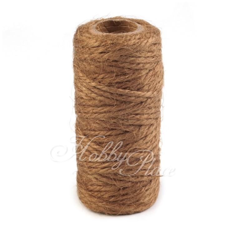 Sznurek sizalowy - Ø2 mm - brązowy