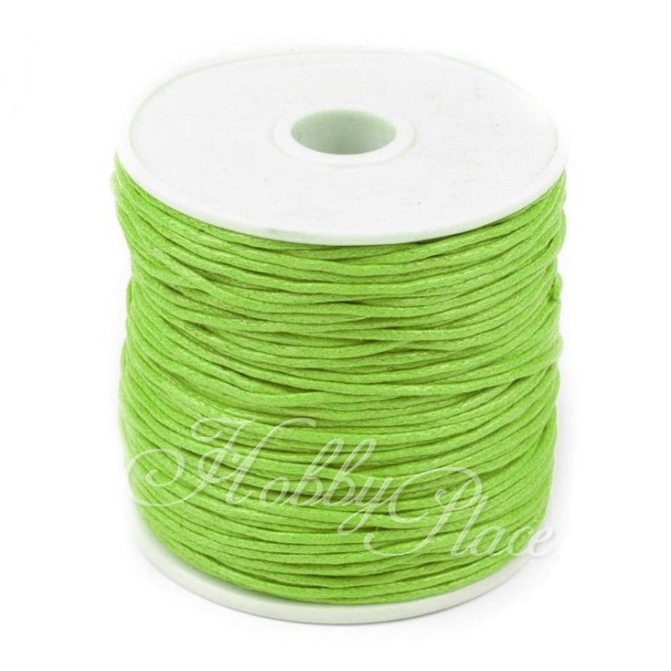 Cotton Waxed Cord - Ø1mm - one spool - lime