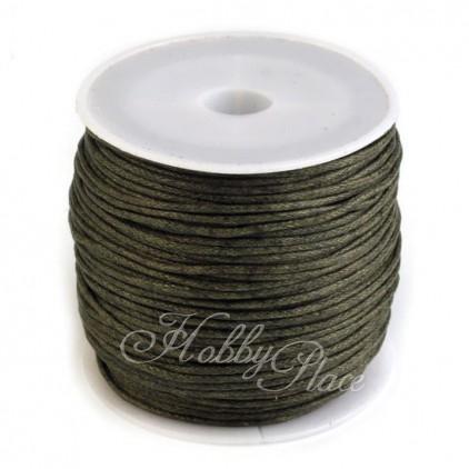 Cotton Waxed Cord - Ø1mm - one spool - khaki