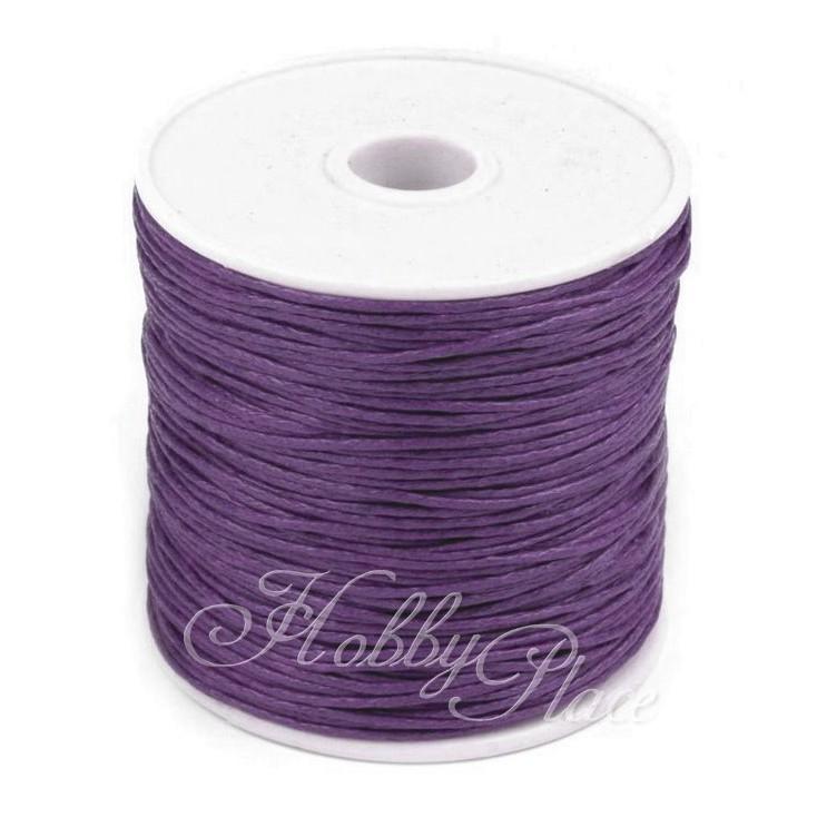 Cotton Waxed Cord - Ø1mm - one spool - plum