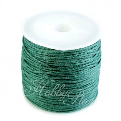 Cotton Waxed Cord - Ø1mm - one spool - green fir