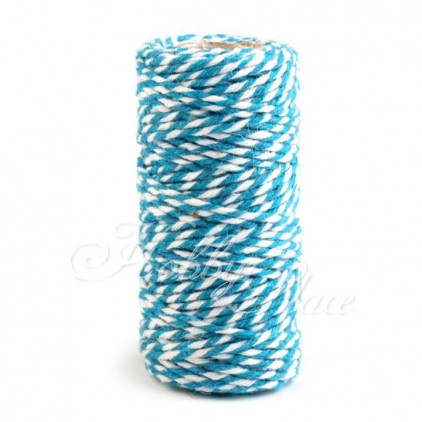 Decorative Cotton Cord Ø1.5 mm - blue-white