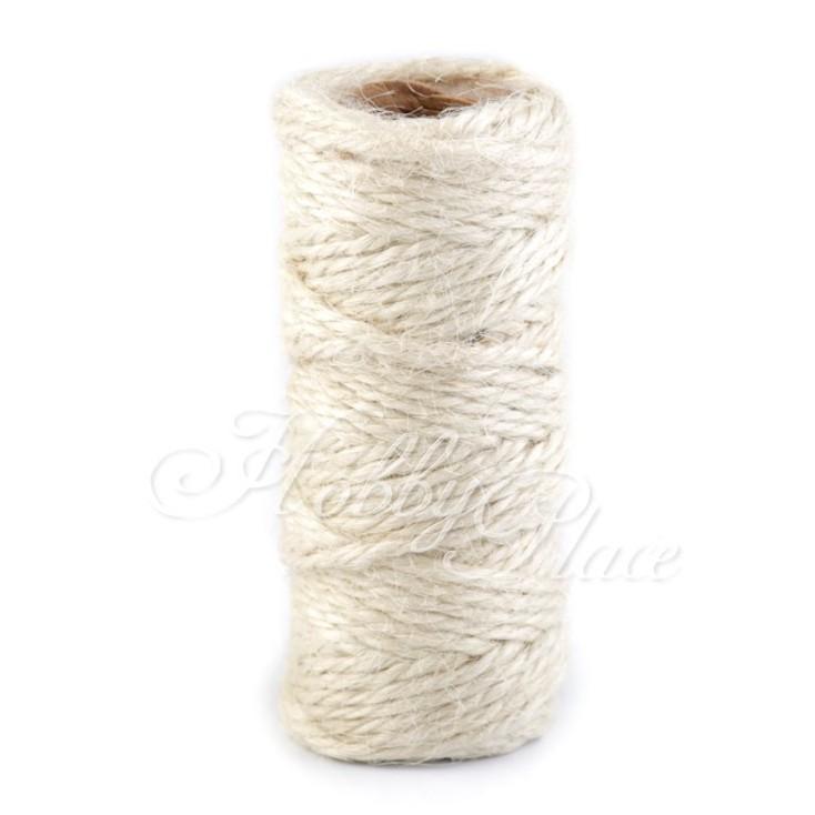 Sznurek sizalowy - Ø2 mm -naturalny biały