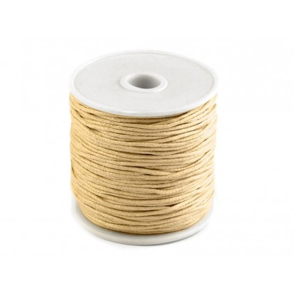 Cotton Waxed Cord - Ø1mm - one spool -honey