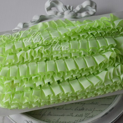 Celadon pleated grosgrain ribbon