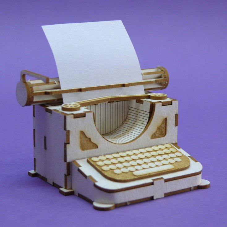 Cardboard element 3d -Crafty Moly - Typewriter
