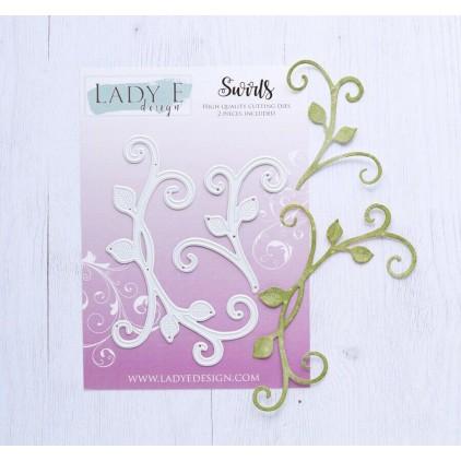 Wykrojnik do wycinania zawijasy z listkami - Swirls - Lady E Design