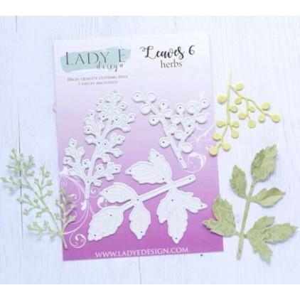 Die - Leaves 006 herbs - Lady E Design