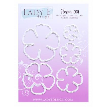 Wykrojnik do wycinania kwiaty - Flower 001 - Lady E Design
