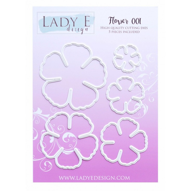 Die - Flower 001 - Lady E Design