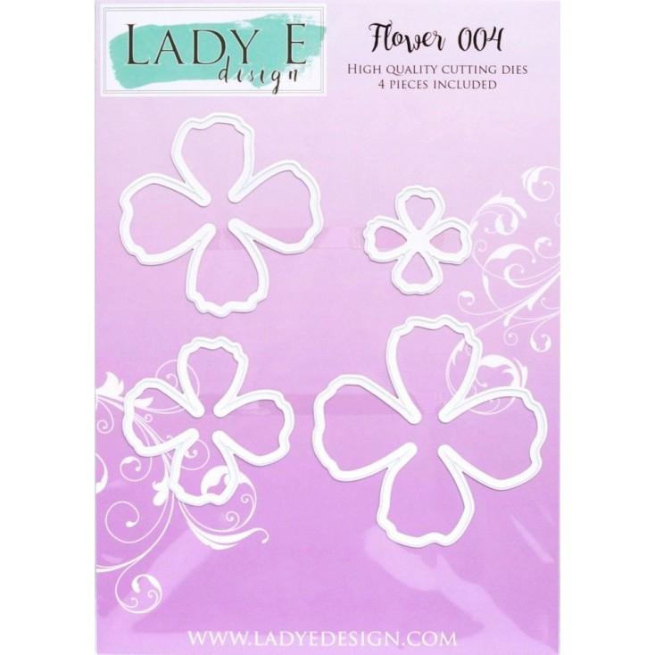 Wykrojnik do wycinania kwiatek , płatki- Flower 004 - Lady E Design