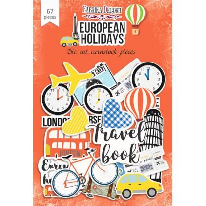 Wycinanki z papieru 67 części - European holidays - Fabrika Decoru FDSDC-04036