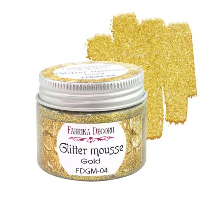 Glitter mousse - gold - 50ml - Fabrika Decoru