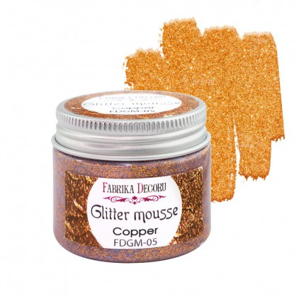 Mus z brokatem - copper - 50ml - Fabrika Decoru