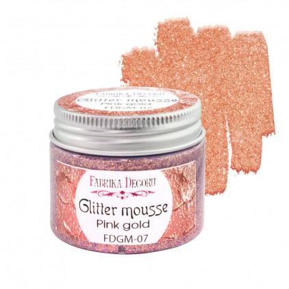 Glitter mousse - pink gold - 50ml - Fabrika Decoru