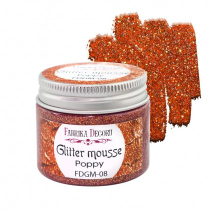 Glitter mousse - poppy - 50ml - Fabrika Decoru