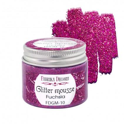 Glitter mousse - fuchsia - 50ml - Fabrika Decoru
