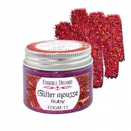 Glitter mousse - ruby - 50ml - Fabrika Decoru