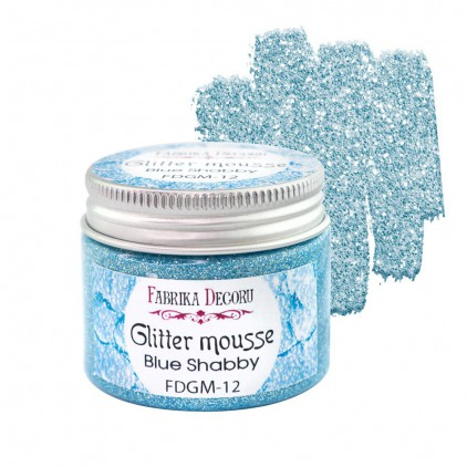 Glitter mousse - blue shabby - 50ml - Fabrika Decoru