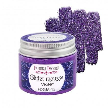 Glitter mousse - violet - 50ml - Fabrika Decoru