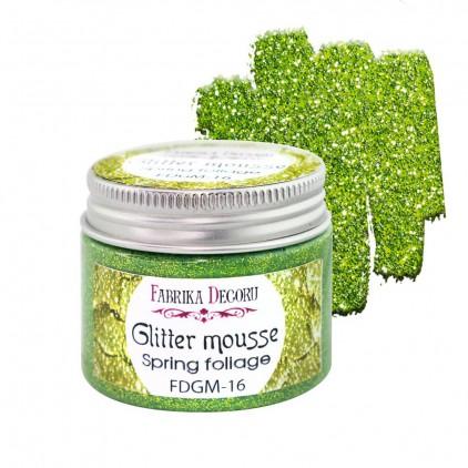 Glitter mousse - spring foliage - 50ml - Fabrika Decoru