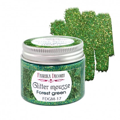 Mus z brokatem - forest green - 50ml - Fabrika Decoru