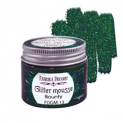 Glitter mousse - emerald - 50ml - Fabrika Decoru