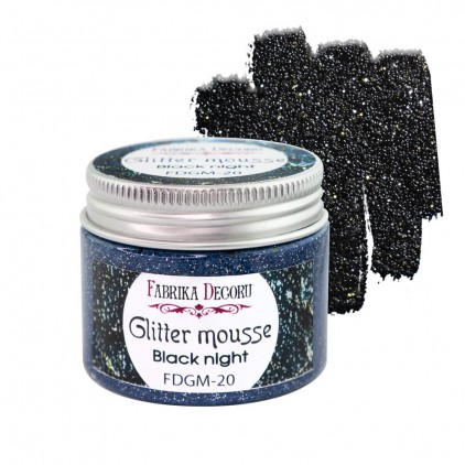 Glitter mousse - black night - 50ml - Fabrika Decoru