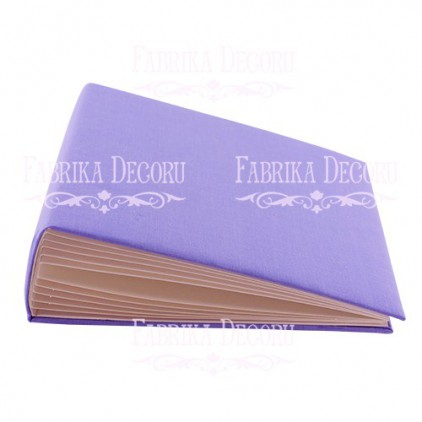 Album base square- textile light purple - 20x20x7 cm - Fabrika Decoru