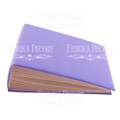 Baza albumowa kwadratowa- materiał light purple - 20x20x7 cm - Fabrika Decoru