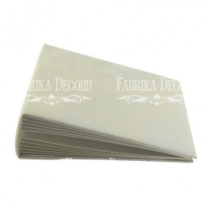 Baza albumowa kwadratowa- materiał - Wedding champagne- 20x20x7 cm - Fabrika Decoru
