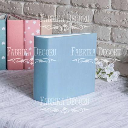 Album base square- textile blue - 20x20x7 cm - Fabrika Decoru