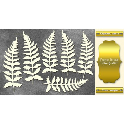FDCH 157 - gold foiled laser cut, chipboard - Botany Autumn - Fabrika Decoru