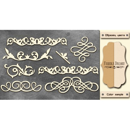 laser cut, chipboard - monograms 1 Fabrika Decoru FDCH 67