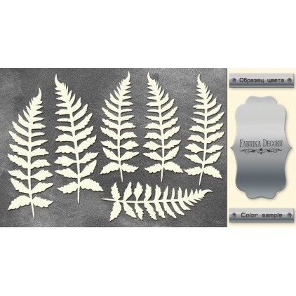 laser cut, chipboard silver foiled - Botany Autumn - Fabrika Decoru FDCH 157