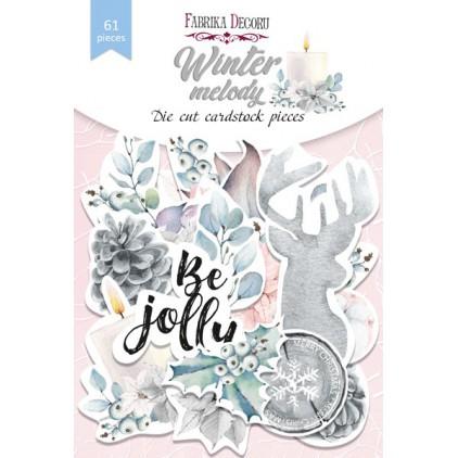 Wycinanki z papieru 61 części - Winter melody - Fabrika Decoru FDSDC-04077