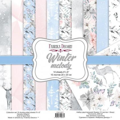 Zestaw papierów do tworzenia kartek i scrapbookingu 20 x 20cm - Fabrika Decoru - Winter melody FDSP-02077