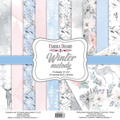 Zestaw papierów do tworzenia kartek i scrapbookingu - Fabrika Decoru - Winter melody FDSP-01077