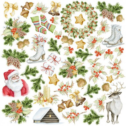 "Elements to cut out 12x12"" - Awaiting Christmas - Fabrika Decoru"
