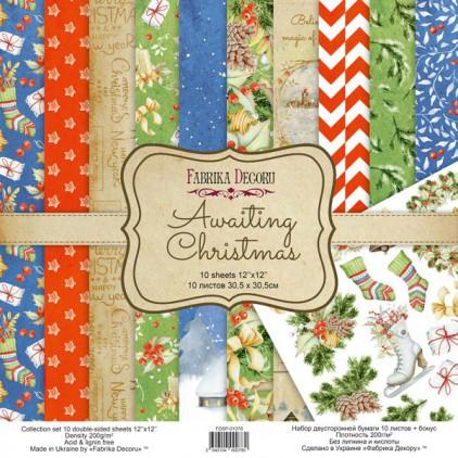 Zestaw papierów do tworzenia kartek i scrapbookingu - Fabrika Decoru - Awaiting Christmas - FDSP-01078