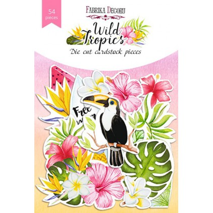 Set of die cuts 54 pieces - Wild Tropics - Fabrika Decoru FDSDC-04071