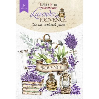 Set of die cuts 54 pieces - Lavender Provence - Fabrika Decoru FDSDC-04064