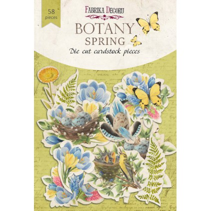 Set of die cuts 58 pieces - Botany Spring - Fabrika Decoru FDSDC-04066
