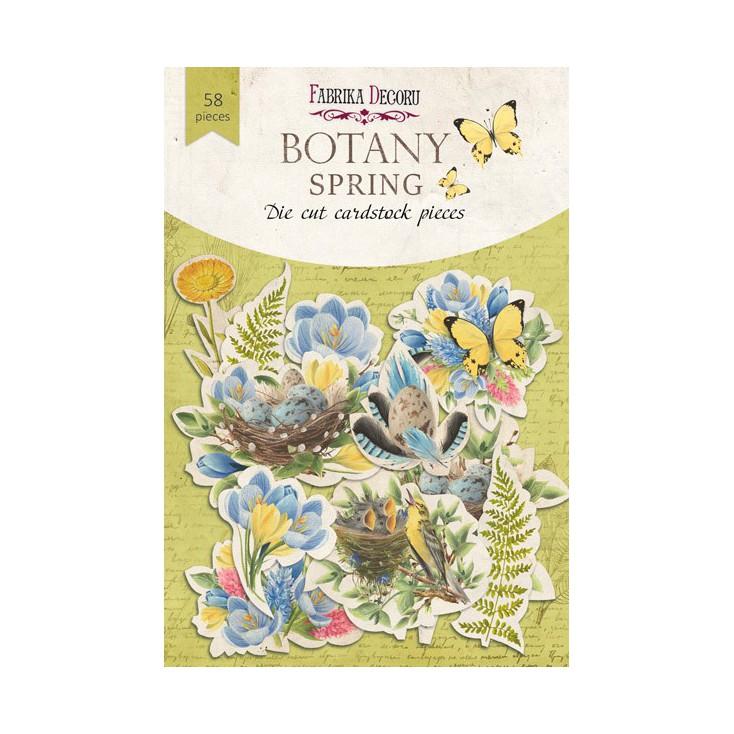 Wycinanki z papieru 58 części - Botany Spring - Fabrika Decoru FDSDC-04066