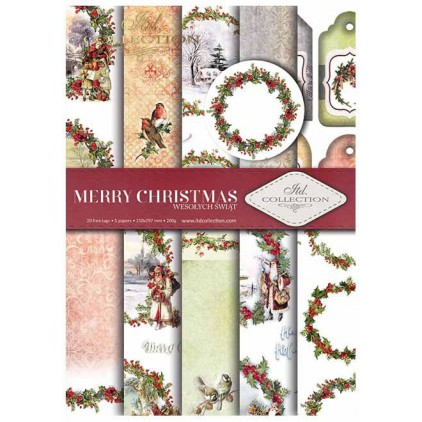 Set of scrapbooking papers - Merry Christmas - ITD Collection - SCRAP021