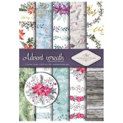 Set of scrapbooking papers - Advent wreath - ITD Collection - SCRAP020